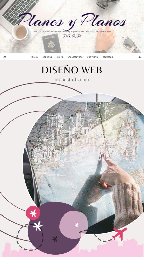planes y planos web de viajes de arquitectura